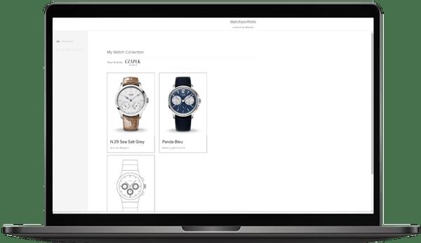 Czapek Uhren in der Demo Web-App von Adresta