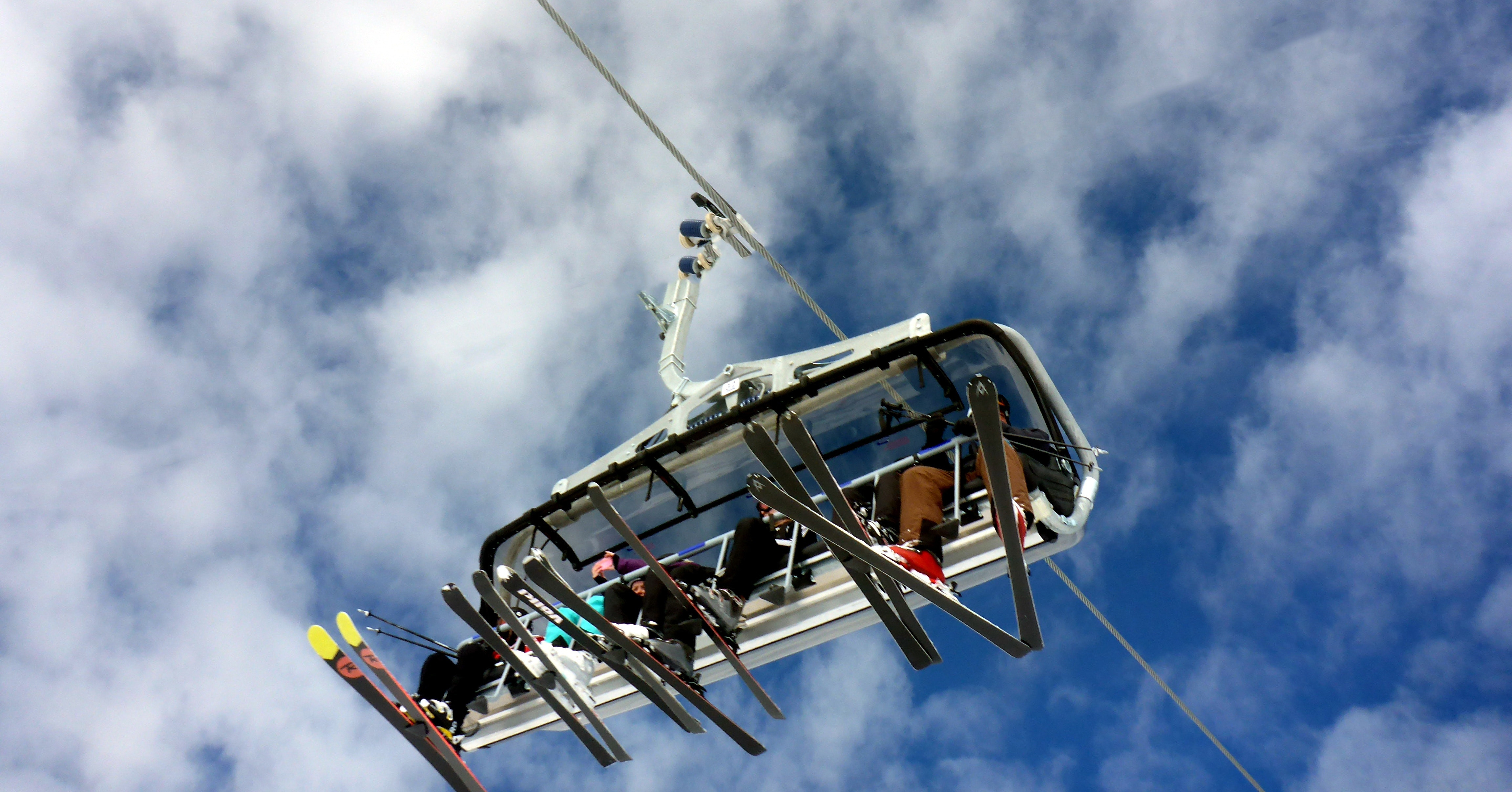 People in chair-lift